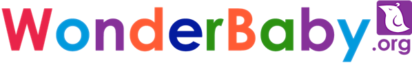 The WonderBaby.org logo, printed in multi-colored text with a small purple silhouette of a bird at the end.